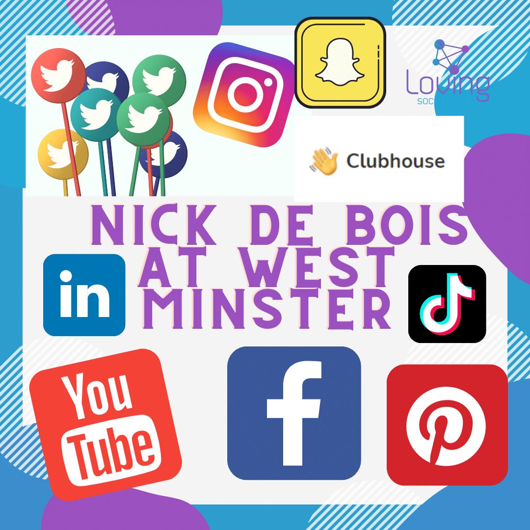 Loving Social Media interview Nick de Bois at Westminster